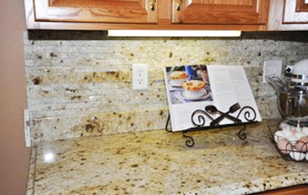 Split Natural Stone Backsplash