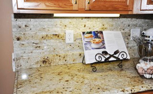 Kitchen Backsplash Richmond Va split natural stone backsplash installation | richmond, va