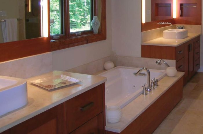 Limestone Vanity Tops Tub Deck Installation Richmond Va