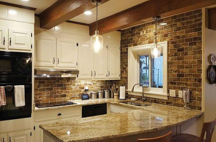 Colonial Dream Granite Kitchen. «