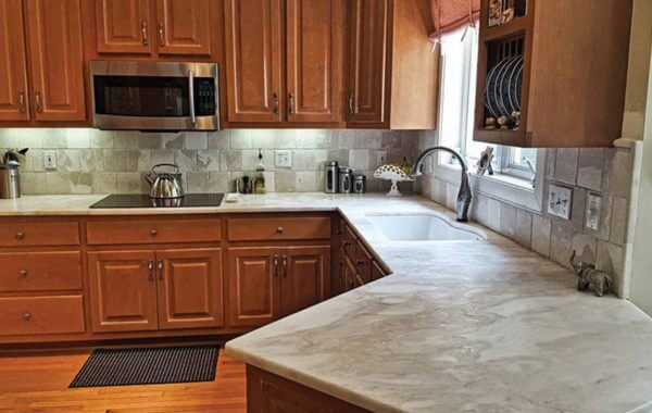 Mystery White Marble Kitchen