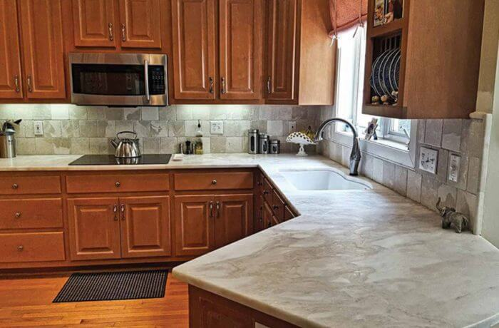 Mystery White Marble Kitchen. «
