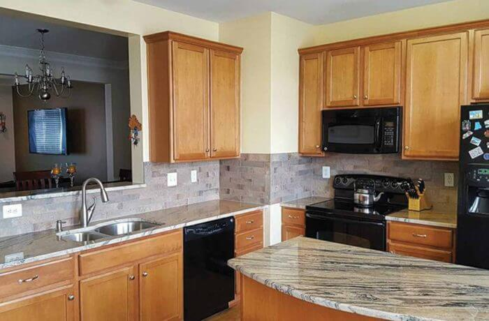 Juparana Exotica Granite Kitchen